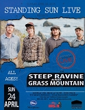 Standing Sun LIVE presents Steep Ravine w/Grass Mountain featuring