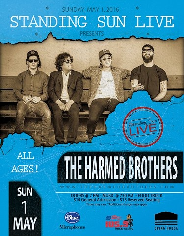 Standing Sun LIVE presents The Harmed Brothers 5/1/2016