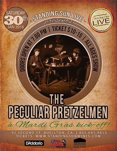 Standing Sun LIVE presents The Peculiar Pretzelmen 1/30/2016