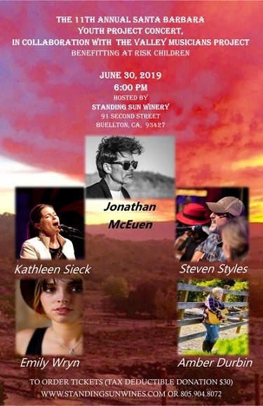6/30/19- 11th Annual Santa Barbara Youth Project Concert